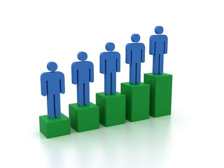 bar graph with human figures