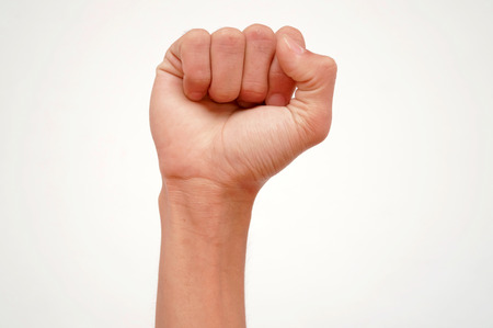 raise the thumb: fist and hand