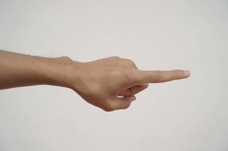 wag: Pointing commands Stock Photo