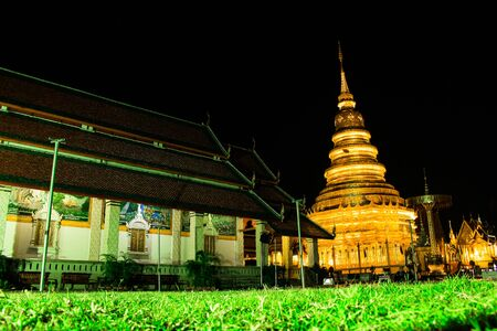 hariphunchai: Wat Phra That Hariphunchai in Lamphun Province, Thailand Stock Photo