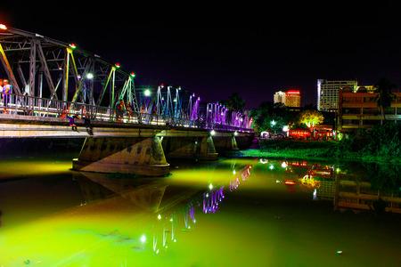 Iron bridge ,Chiang mai Stock Photo