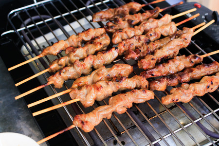 grill pork babeque in thai style Stock Photo