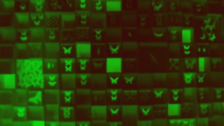 Abstract circular bokeh on green background.
