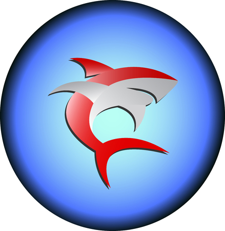 Red Shark   icon Illustration