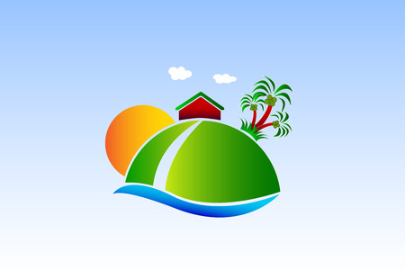 Natural House cleaning image Illustration