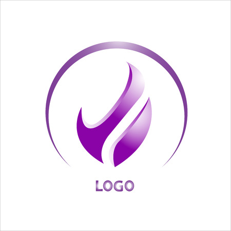 Abstract Vector Logo Design Template. Creative Yellow Red Wavy Concept Icon