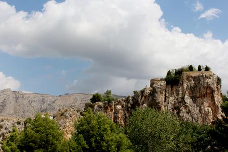 Beautiful viewpoint in Guadalest, Spain
