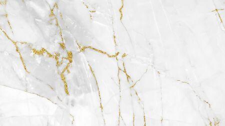 White gold marble texture pattern background design for your creative design Foto de archivo
