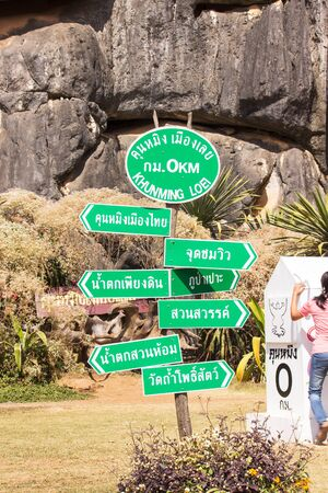 Signposted routes In tourism of Khamming  Loei.