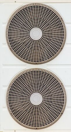 vent: Fans, air conditioning Located just outside the building. Stock Photo