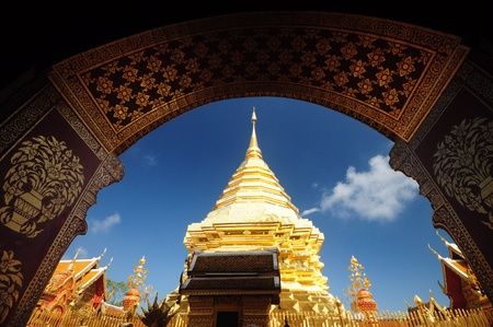 thep: Arch in wat doi su thep Stock Photo