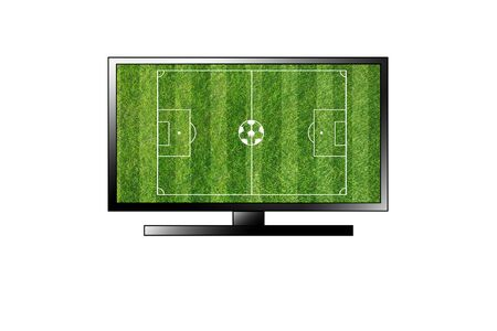 smart goals: TV football field isolated on white background