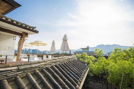 SEOUL,South Korea - MAY 22: Hahoe Folk village in South Korea. MAY 22, 2016 in Seoul, South Korea Editorial