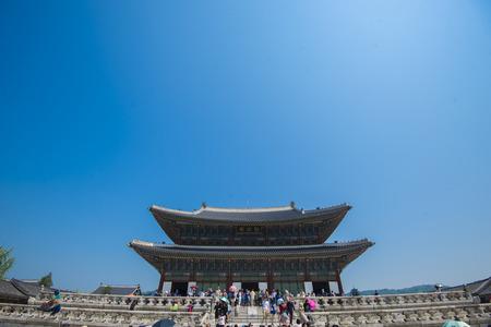 SEOUL,South Korea - MAY 22: Gyeongbokgung Palace. MAY 22, 2016 in Seoul, South Korea Editorial