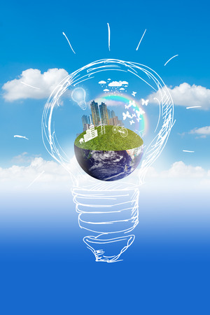 property management: Green city, Save earth concept,Elements of images furnished by NASA