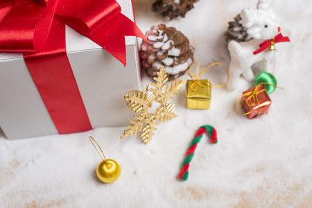 Christmas gift box and christmas decoration