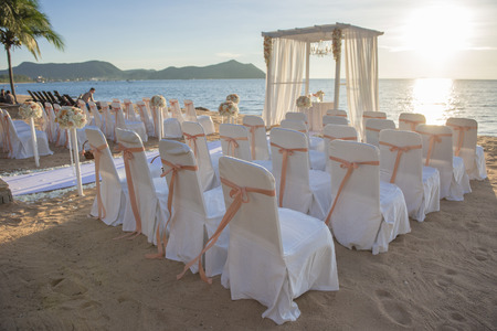 Wedding setup on beach