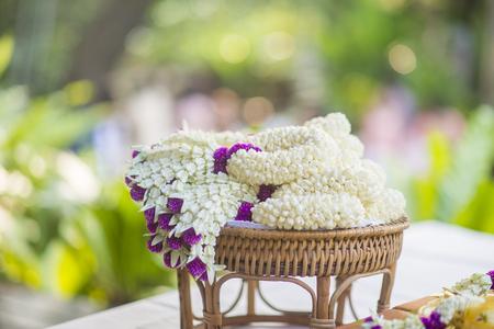 Thai wedding decoration  Stock Photo