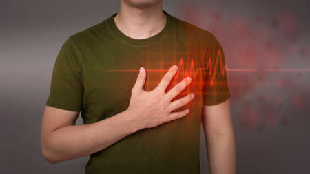 Young man With Heart Attack