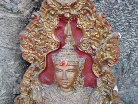 sculpt: graven image  . Photograph at Thailand .