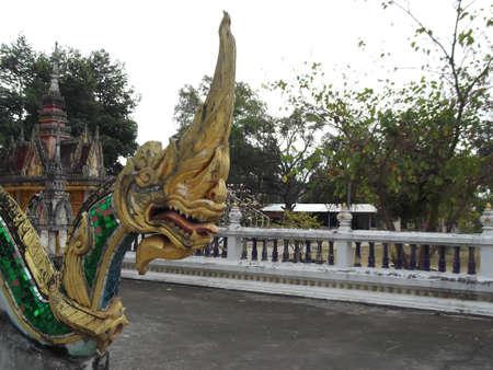 priesthood: Naga statue . Photograph at Thailand .