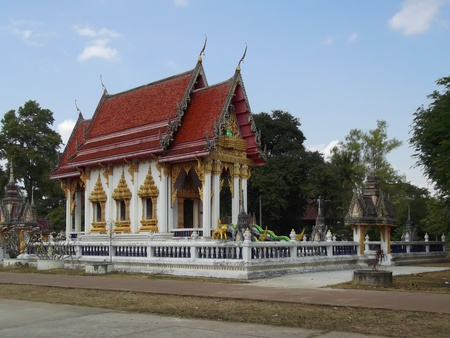 abstention: temple , the place performs a ceremony Buddhism   Photograph at Thailand