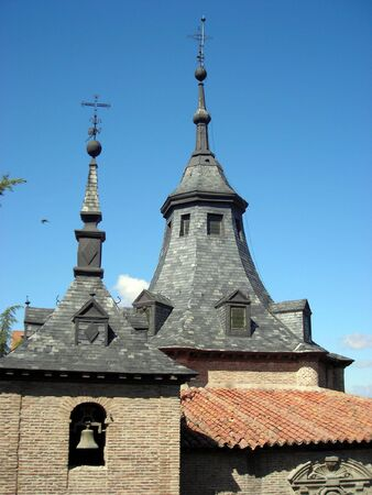Detail of the roof of the Virgen del Puerto Hermitage in Madrid