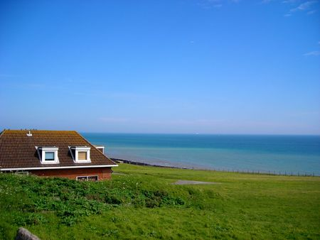 A quiet house close to the sea near Rottingdean, East Sussex, England. Copy space. Stock Photo