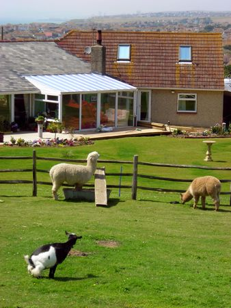 View of a little farm located at Rottingdean, East Sussex, England. Stock Photo