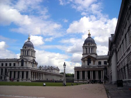View of the University of Greenwich on a sunny summer day.