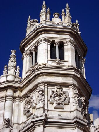 View of the corner of the new Madrids Major House, also known as Saint Mary of the Telecommunications.