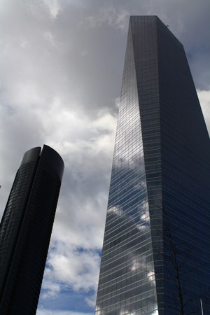 One of the new financial buildings in Madrid, known as the Four Towers.
