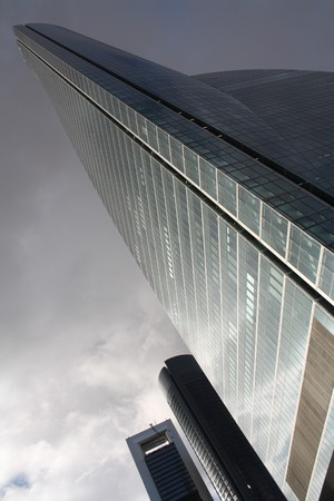Space Tower in the new Financial District in Madrid