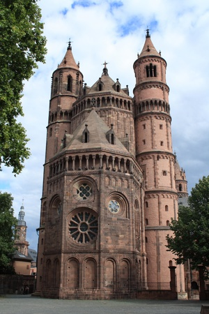 Beautiful Cathedral located in Worms, Rhineland-Palatinate, Germany.