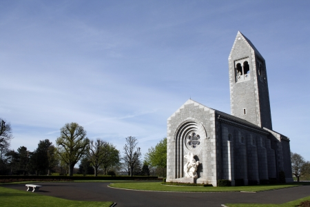 The chapel of Saint James, American Cemetery in Normandy, France.
