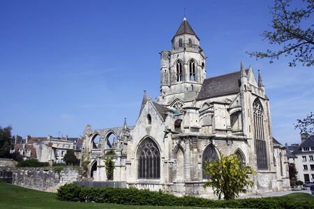 The ancient chur of Saint-Etienne in Caen, Calvados, Lower Normandy, Francia.