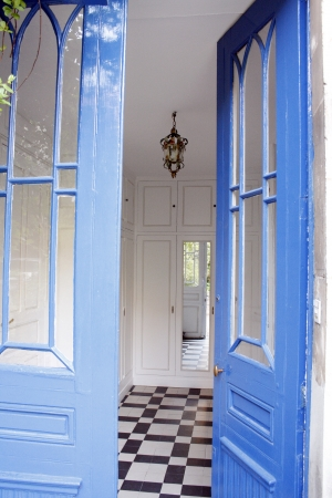 Entrance hall of an antique house in France. Editorial