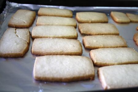 Scottish cookies, shortbread, freshly hand-made. Stock Photo