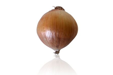 Onion isolated on white background  Path included