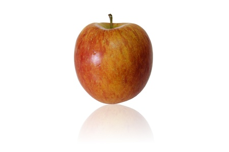 A Fuji Apple isolated on white background  Path included  Stock Photo