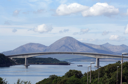 The Skye Bridge over the Loch Alsh, Scotland. Stock Photo