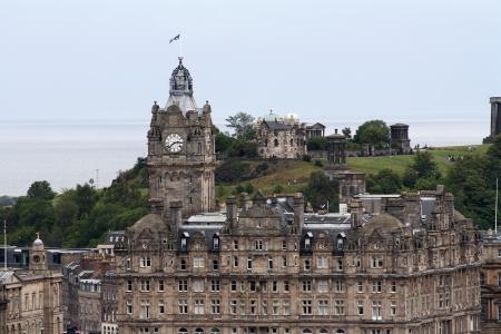 The Balmoral Hotel with Calton Hill behind, Edinburgh, Scotland