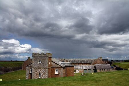 A rainy day on Fort George, Scotland, UK  Editorial