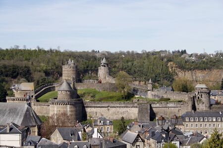 Chateau de Fougeres, medieval fortress in Brittany, France