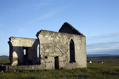 Old church in Kilmuir, small village in the Trotternish peninsula in the island of Skye, Scotland