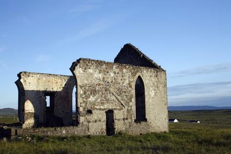 Old church in Kilmuir, small village in the Trotternish peninsula in the island of Skye, Scotland