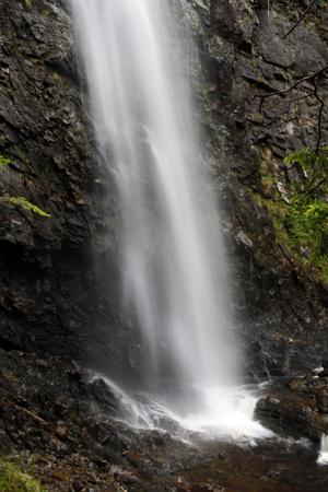Plodda Falls viewed from Allt na Bodachan, Highlands, Scotland  Stock Photo