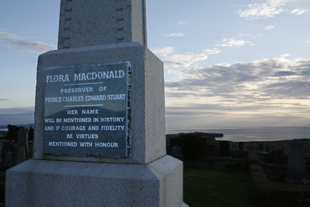 Tombstone of the scottish heroine Flora MacDonald, Skye Island,Scotland