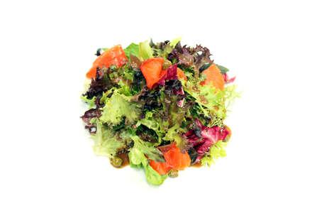 caper: salmon salad with Caper Sauce