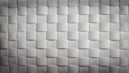 latticework: white basket weave pattern